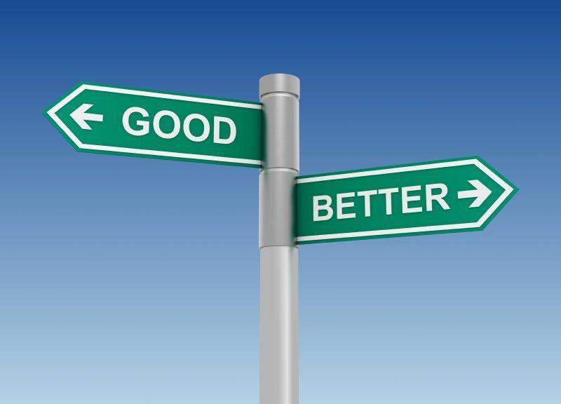 """Panneaux """"good"""", """"better"""""""